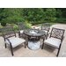 Stone Art Bistro Set with Cooler
