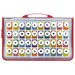 40 Alphabet & Number Kraft Punches in Zipper Case