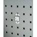 LocHook 1/2 In. Single Rod 30 Degree Bend 3/16 In. Dia. Zinc Plated Steel Pegboard Hook for LocBoard, 5 Pack