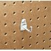 DuraHook 1-1/8 In. Single Rod 90 Degree Bend 3/16 In. Dia. Zinc Plated Steel Pegboard Hook for DuraBoard, 10 Pack