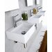 Linea 13&quot; x 11.2&quot; Qaurelo Vessel Sink in White