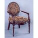Cameo Back Fabric Arm Chair