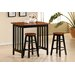 3 Piece Bar Table Set in Black and Cherry