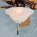 Three Light Swirl Bowl Ceiling Fan Light Kit