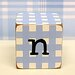 """n"" Letter Block in Blue"