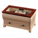 Iris Glass Top Jewelry Box in Walnut and Cream