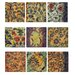 "Floral Murals Wall Decor (Set of 9) - 10"" x 10"""