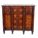 Chest with Six Drawers and Two Doors in Burled Pecan