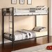 Silver Screen Twin over Twin Bunk Bed with Built-In Ladder