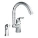 Felicity One Handle Widespread High Arc Kitchen Faucet with Convenient Side Spray