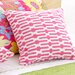 "Bright Stuff Links 18"" Decorative Pillow in Pink"