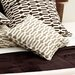 "Neutral Territory Links 18"" Decorative Pillow in Taupe"
