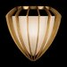 Staccato Silver One Light Wall Sconce in Toned Slver Leaf