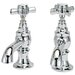 Widespread Bathroom Faucet with Hot And Cold Cross Handle