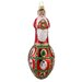 David Strand Glass Faberge Santa Noel Ornament