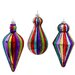 Glass Rainbow Drop Ornament (Park of 3)