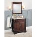 "32"" Single Bathroom Vanity Set in Dark Brown"