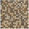 "Crystal Stone II 12"" x 12"" Glass Square Mosaic in Terracotta"