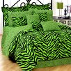 Lime Zebra 6 Piece Comforter Set