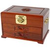 Oriental Jewelry Box with Two Drawers in Honey