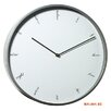 Modernist Steel Script Wall Clock