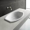 Losagna Oval Stylish Ceramic Self Rimming Bathroom Sink without Overflow