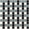 "Ambit 11-3/4"" x 11-3/4"" Polished Basket Monochrome Glass Mosaic Wall Tile in Multi"