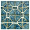 "Moonlight 11-3/4"" x 11-3/4"" Porcelain Mosaic in Pacific Blue"