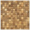 "Natural 16-1/2"" x 16-1/2"" Convex Coconut Mosaic Wall Tile"