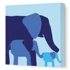 Animal - Elephants Stretched Wall Art