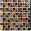 "Metallica 11.75"" x 11.75"" Glass Mosaic in Mix Metallica Beige"