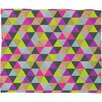 Bianca Green Ocean of Pyramid Polyester Fleece Throw Blanket