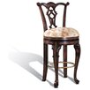 Windsor Swivel Bar Stool in Distressed Dark Espresso