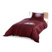 Starburst Duvet and Sham in Chocolate Brown
