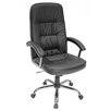 Carrera High-Back Leather with Metal Base Swivel Office Chair
