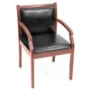 Regent Wood and Leather Guest Side Chair