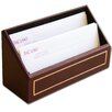 5000 Series 24kt Gold Tooled Leather Letter Holder in Burgundy