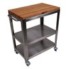 Cucina Americana Culinarte Kitchen Cart with Butcher Block Top