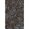 Structures Chocolate Floral Rug