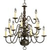 Americana 15 Light Candle Chandelier