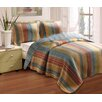 Katy 3 Piece Quilt Set - Full / Queen