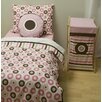 Mod Dots and Stripes Pink and Chocolate Toddler Bedding Collection