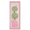 Bunny Topiary Giclee in Pink