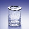 "4"" x 3"" Accessories Crackled Glass Toothbrush Holder"