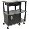 Tuffy Presentation Station with Black Drawer Cabinet
