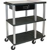 Presentation Station Open Shelf with Nickel Legs