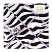Purple Funky Zebra Memo Board