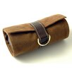 Faux Suede and Leather Jewel Roll in Brown