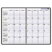Academic/Fiscal Ruled 14-Month Planner, 7-7/8 x 11-7/8, Black, 2012