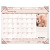 Antique Floral Color Photographic Monthly Desk Pad Calendar, 22 x 17, 2013